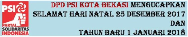 DPD PSI Kota Bekasi NATAL