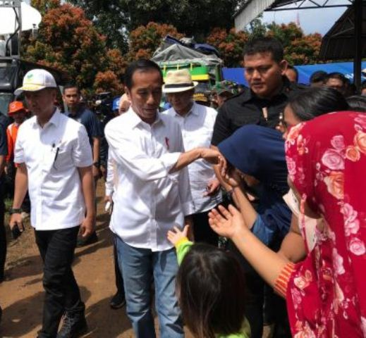 Presiden Jokowi Temui Korban Tsunami di Pandeglang