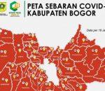 Seluruh Kecamatan di Kabupaten Bogor Zona Merah Covid-19