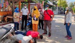 Giat PPKM, Lurah Perwira Isma Yusliyanti Sanksi Sosial Push-Up Pelanggar Protokol Kesehatan